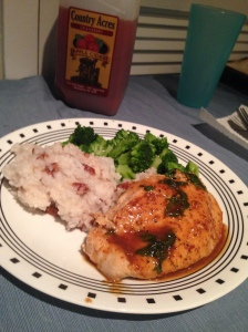 Cider Glazed Chicken with Pecan Rice