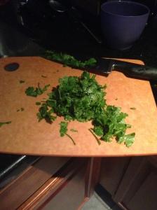 Cilantro chopped
